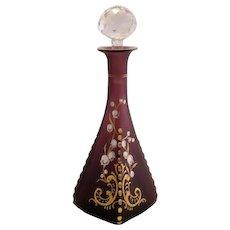 Art Nouveau Purple Opaline Enamel Gilt Perfume