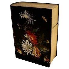 Antique Asian Laquer Ware Box Book Shape