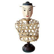 Rare Antique Victorian Asian Display Mannequin