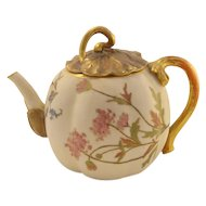 Antique Royal Worcester Blush and Gold Teapot