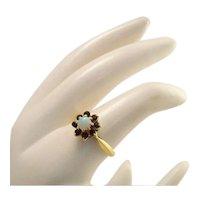 Opal Garnet Ring 10k Gold Ring