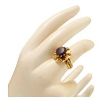 Vintage 18k Gold Amethyst Ring