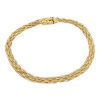 Vintage 10k Gold Woven Bracelet
