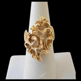 Vintage 14k Gold Organic Free Form Ring