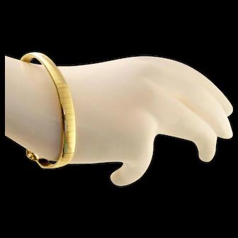 Vintage 14k Gold Italian Smooth Bracelet