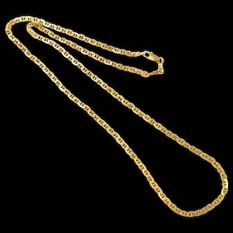 "Heavy Unusual Link 14k Gold Italian Chain Necklace 23"" 18.9 Grams"