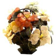 "Large Oriental Chinese Jade Tree Bonsai Tree GEMSTONE 7 1/2"" x 7 1/4"""