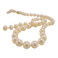 """Vintage 23"""" Strand String Cultured Pearls with 14k Gold Clasp"""