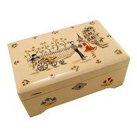 Vintage Retro Mid Century 50's Paris Jewellery Box Jewel Case