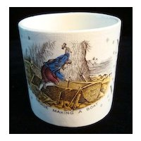 Alphabet ABC Mug ~ Crusoe Making A Boat 1880
