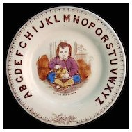 ABC Plate ~ Little Jack Horner ~ Nursery Rhymes 1880