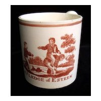 Creamware Child's Mug ~ A Pledge of Esteem 1820