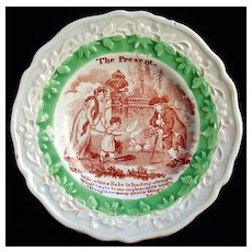 Early Pearlware Plate ~ My Grandfather 1830