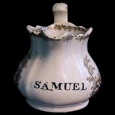 Staffordshire Christening Pitcher ~ SAMUEL 1840