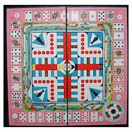 Framed Game Board ~ Cats & PARCHEESI 1930