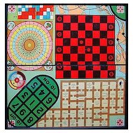 Antique Framed Game Board ~ Multi Games 1930