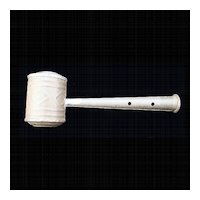 Antiques Civil War Tin Whistle Rattle 1860