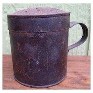 Antique Civil War Era Tin Sifter Shaker 1860