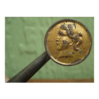 Civil War Era Child's Tin Whistle and Rattle 1860
