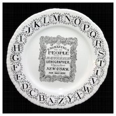 ABC Advertising Plate ~ CURRIER & IVES Lithographer