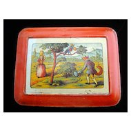 Early Large Fontaine Biscuit Tin ~ NURSERY TALES 1930