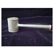 Antique Civil War Era Child's Tin Whistle and Rattle 1860