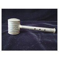 Civil War Era Child's Tin Whistle Rattle 1860