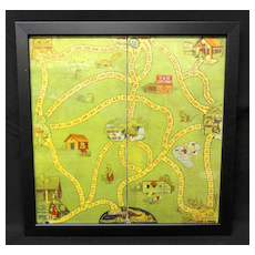 Early Vintage Graphic Game Board ~ UNCLE WIGGILY 1930-40s