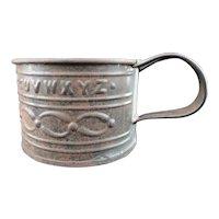 Civil War Tin Mug ~ Alphabet 1860