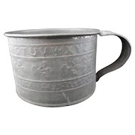 Small Civil War Tin Mug ~ ALPHABET 1860