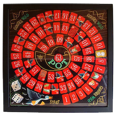 Framed Vintage Graphic Game Board ~ GOOSES WILD 1966