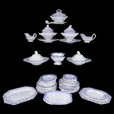 Pearlware Miniature Dinner Set c1840 Dimmock Dimity Staffordshire