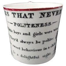 Soft Paste Flowers That Never Fade Mug ~ POLITENESS 1840