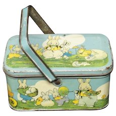 Peter Rabbit as Himself Tin Candy EASTER Lunch Box 1925