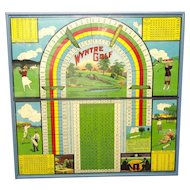 Framed Antique Wyntre GOLF Game Board ~ 1920