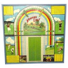 Framed Antique Wyntre GOLF Game Board ~ 1920
