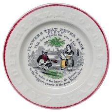 ABCPlate 1840 ~ Flowers That Never Fade Anti-Slavery ~ PIETY ~ 1840