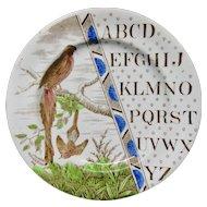 Staffordshire Pearlware Alphabet Plate ~ Wandering Pie ~ 1880