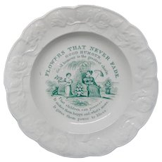 Staffordshire Flowers Never Fade Plate ~ Good Humor 1830