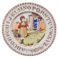 Staffordshire 19th Century Nursery Plate ~ Red Riding Hood ~ 1880
