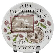 Staffordshire Historical Alphabet Plate ~ Washington ~ 1880