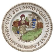1880 ~ Staffordshire 19th Century Nursery Plates ~ Red Riding Hood Starting