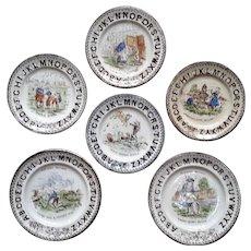 1880 ~ Staffordshire 19th Century Nursery Plates ~ Nursery Rhymes