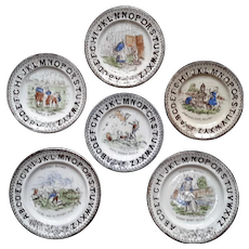 1880 ~ Staffordshire 19th Century Nursery Plates ~ Nursery Rhymes