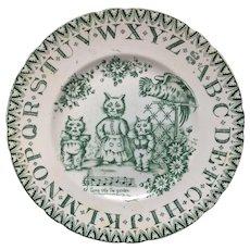 1890 ~ Antique ABC Plate ~ Louis Wain Cats