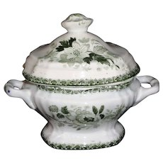 Minton Childs Miniature Tureen DRESDEN FLOWERS Staffordshire c1830