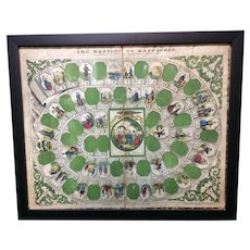 1st American Framed HISTORICAL Original Game Board ~ Mansion 1864