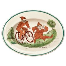 Rare Daisy Makeig-Jones BROWNIES Palmer Cox Wedgwood Miniature Platter England 1913