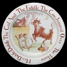 Rare CAT FIDDLE COW MOON Childs Feeding Dish Bisto England 1910