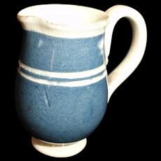 Miniature Mochaware Slip Banded Toy Jug Pitcher Staffordshire 1810